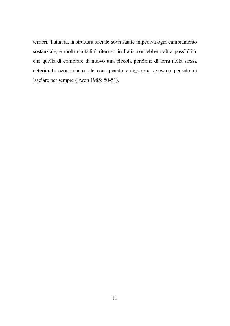 Anteprima della tesi: Linguaggio e condizione femminile nell'America contemporanea: analisi di testi relativi all'immigrazione italiana, Pagina 11