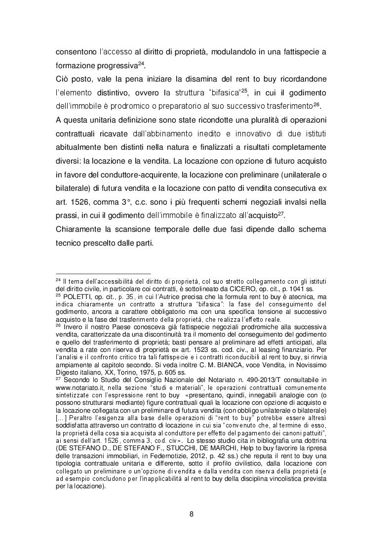Anteprima della tesi: Il contratto di rent to buy, Pagina 5