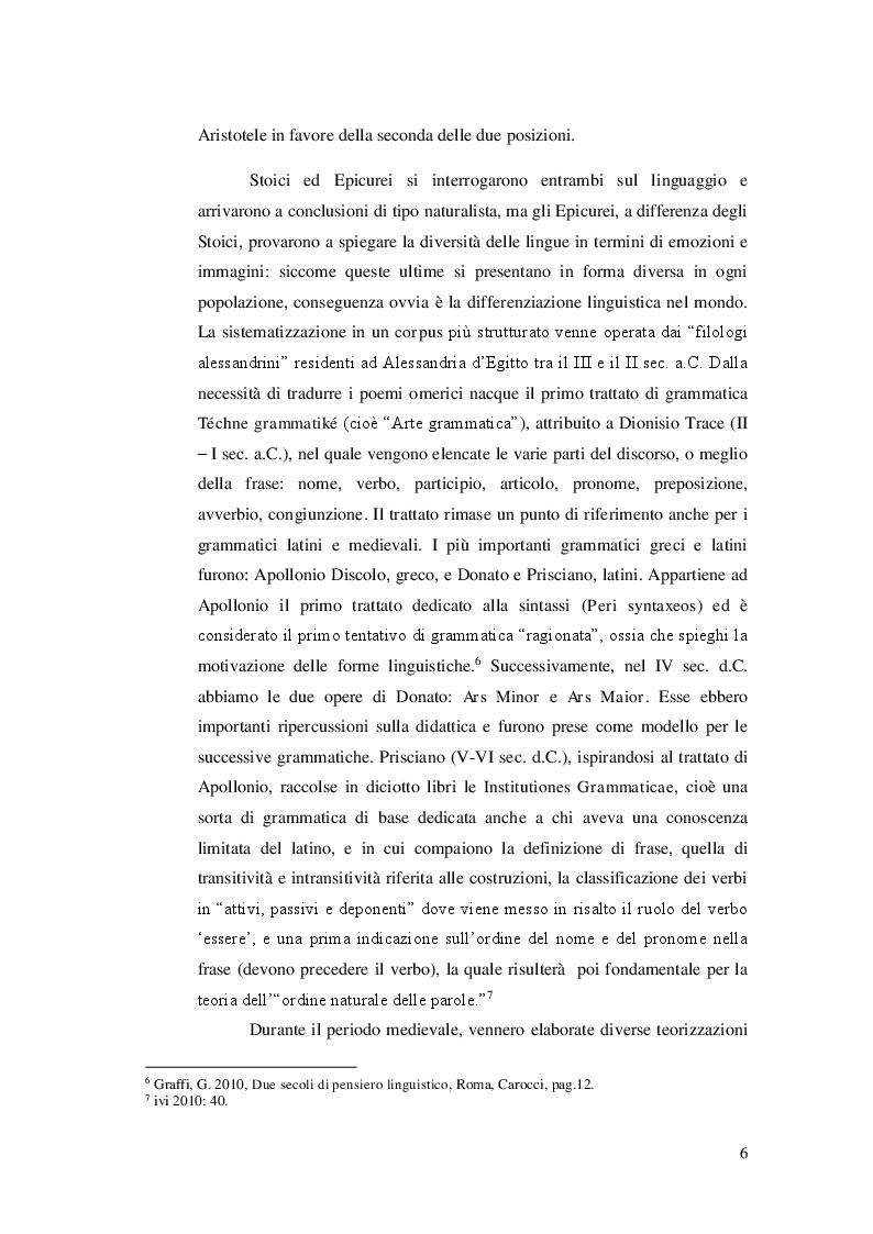 Anteprima della tesi: Ricerca e analisi dei casi di grammaticalizzazione nelle lingue germaniche occidentali: inglese, tedesco e nederlandese a confronto., Pagina 7