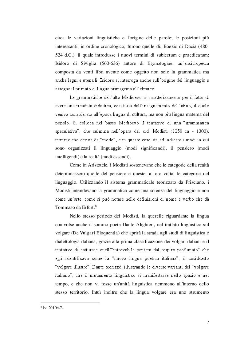 Anteprima della tesi: Ricerca e analisi dei casi di grammaticalizzazione nelle lingue germaniche occidentali: inglese, tedesco e nederlandese a confronto., Pagina 8