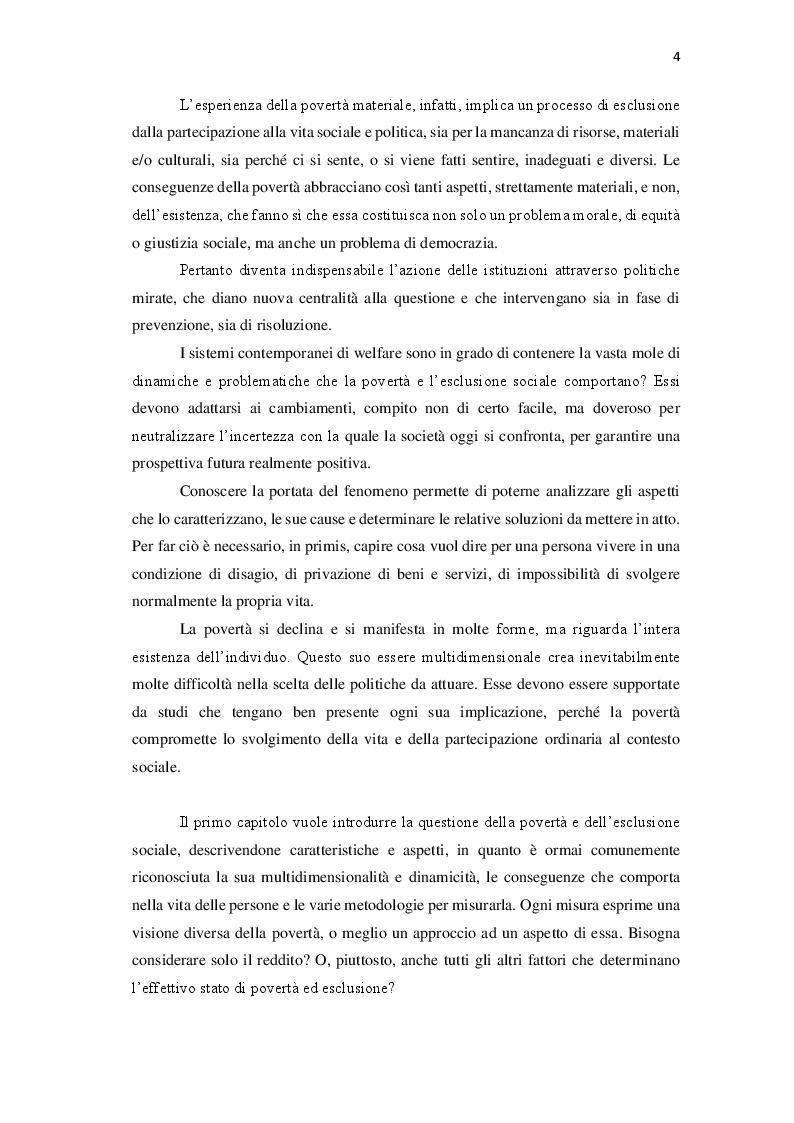 Anteprima della tesi: Le politiche contro la povertà in Europa. Il bilancio della crisi, Pagina 3