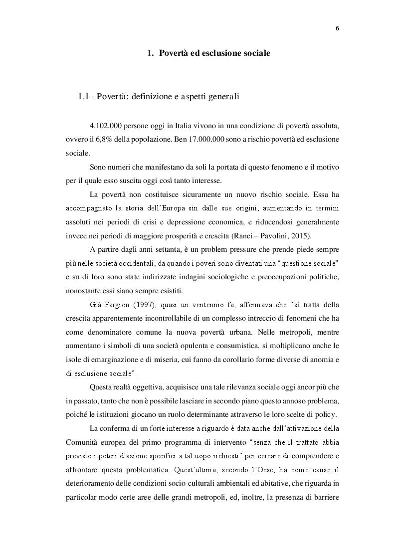 Anteprima della tesi: Le politiche contro la povertà in Europa. Il bilancio della crisi, Pagina 5
