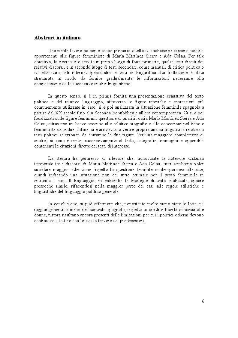 Anteprima della tesi: Discursos Politicos di Marìa Lejarraga e Ada Colau. Analisi comprarativa, Pagina 2
