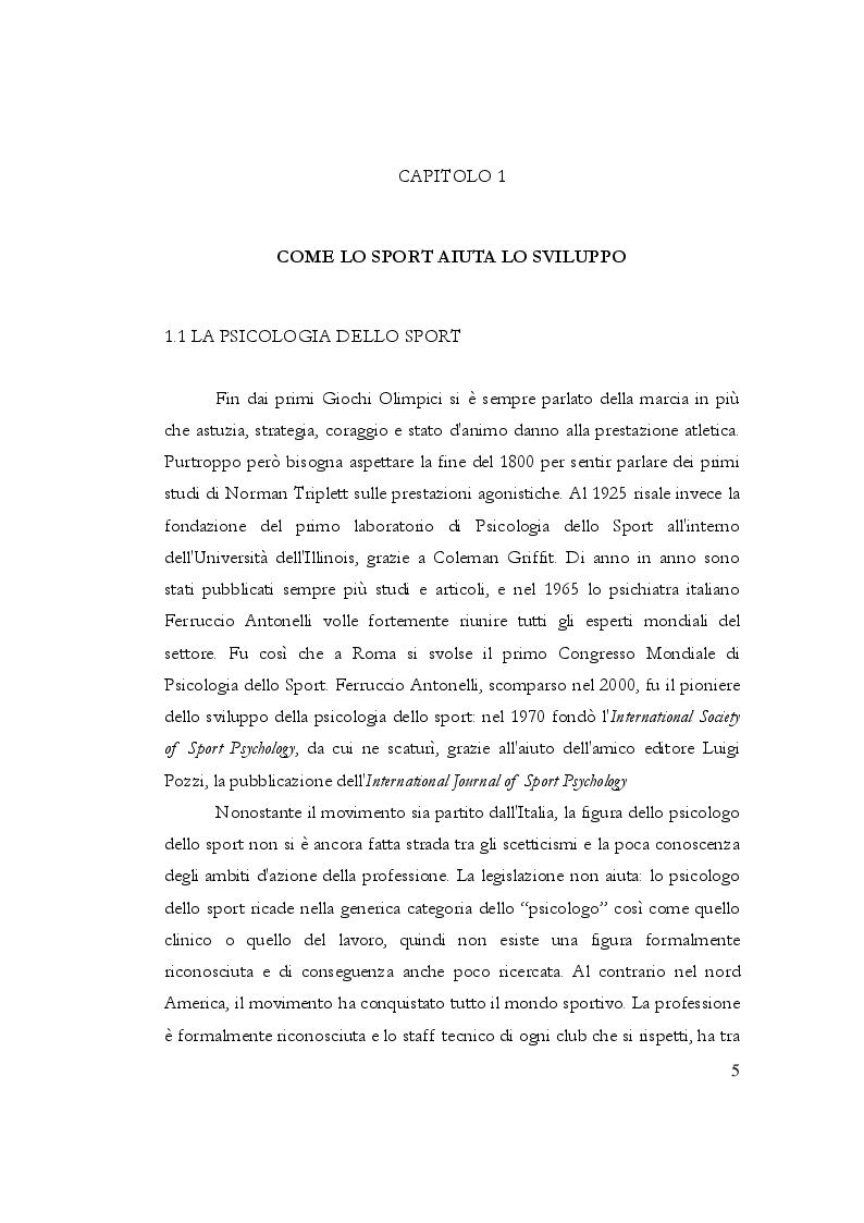Anteprima della tesi: Relazione tra pratica sportiva e carriera scolastica, Pagina 6