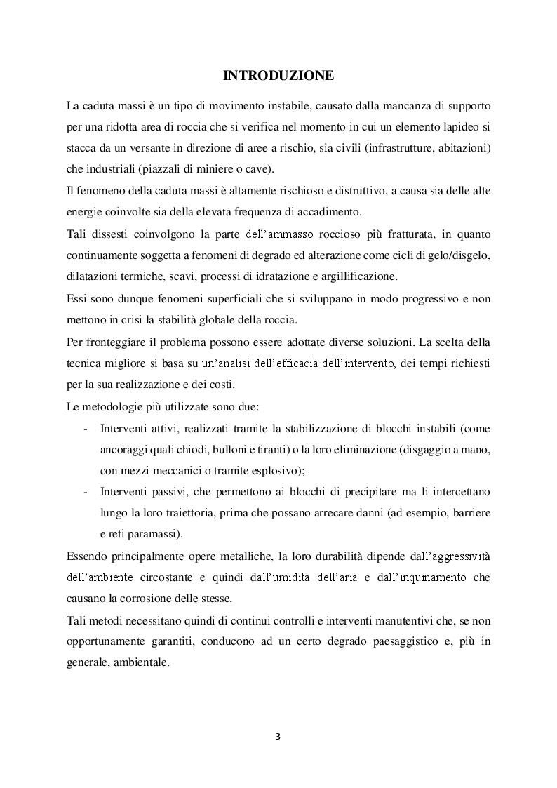 Anteprima della tesi: Metodi di stabilizzazione di ammassi rocciosi mediante resine sintetiche, Pagina 2