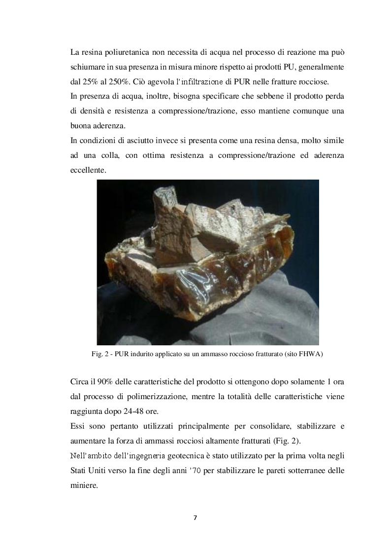 Anteprima della tesi: Metodi di stabilizzazione di ammassi rocciosi mediante resine sintetiche, Pagina 6