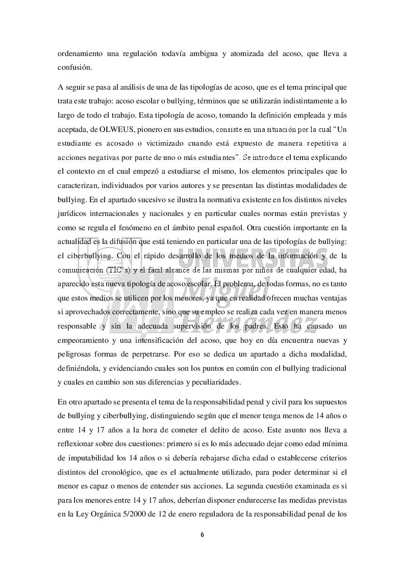 Anteprima della tesi: Una aproximación al análisis y al estudio del acoso escolar (Approccio all'analisi e allo studio del bullismo), Pagina 3