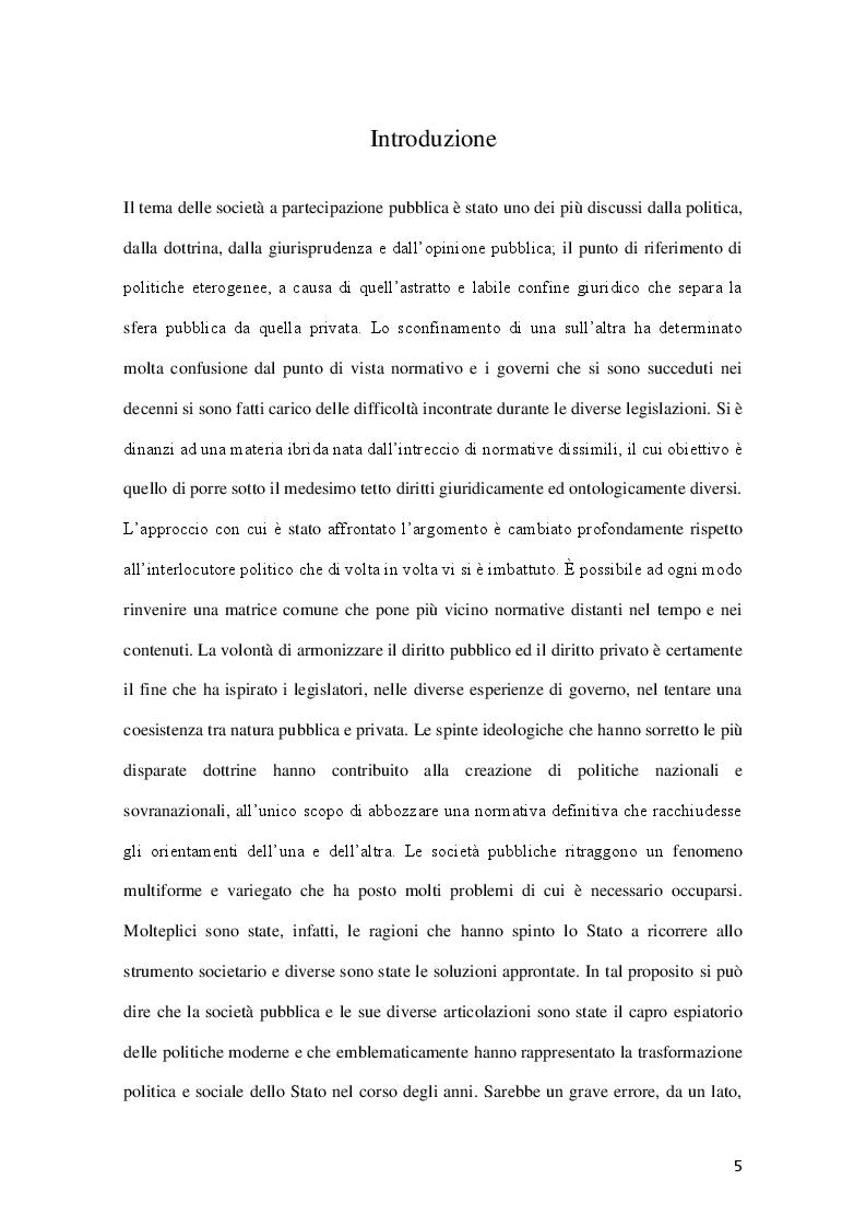 Anteprima della tesi: La governance delle società a controllo pubblico, Pagina 2