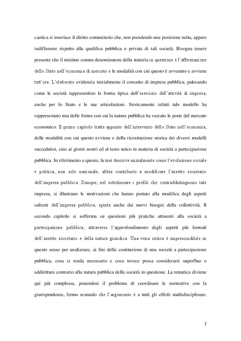 Anteprima della tesi: La governance delle società a controllo pubblico, Pagina 4