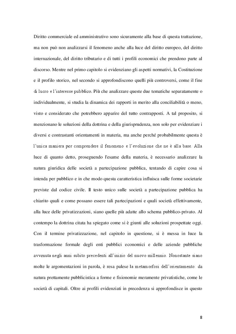Anteprima della tesi: La governance delle società a controllo pubblico, Pagina 5