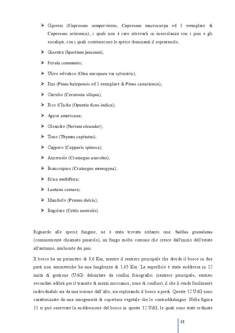Estratto dalla tesi: Rinaturalizzazione del complesso boscato ''Madonna Ciavolo''