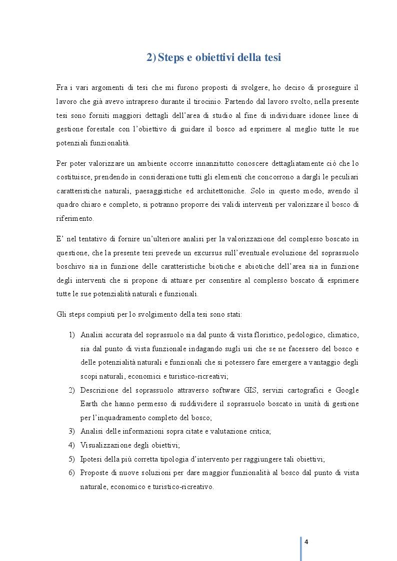 Anteprima della tesi: Rinaturalizzazione del complesso boscato ''Madonna Ciavolo'', Pagina 2