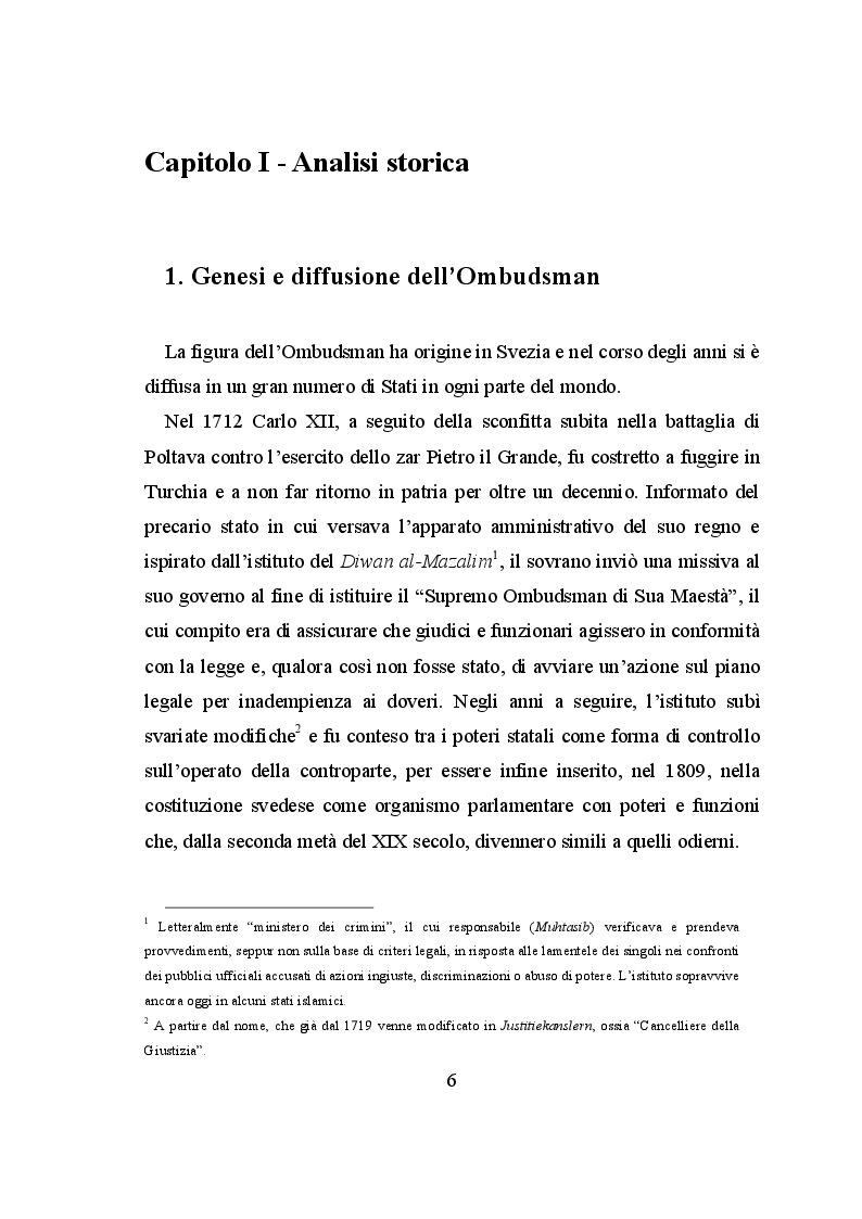 Anteprima della tesi: Il ruolo dell'European Ombudsman nell'Ordinamento dell'Unione Europea, Pagina 7