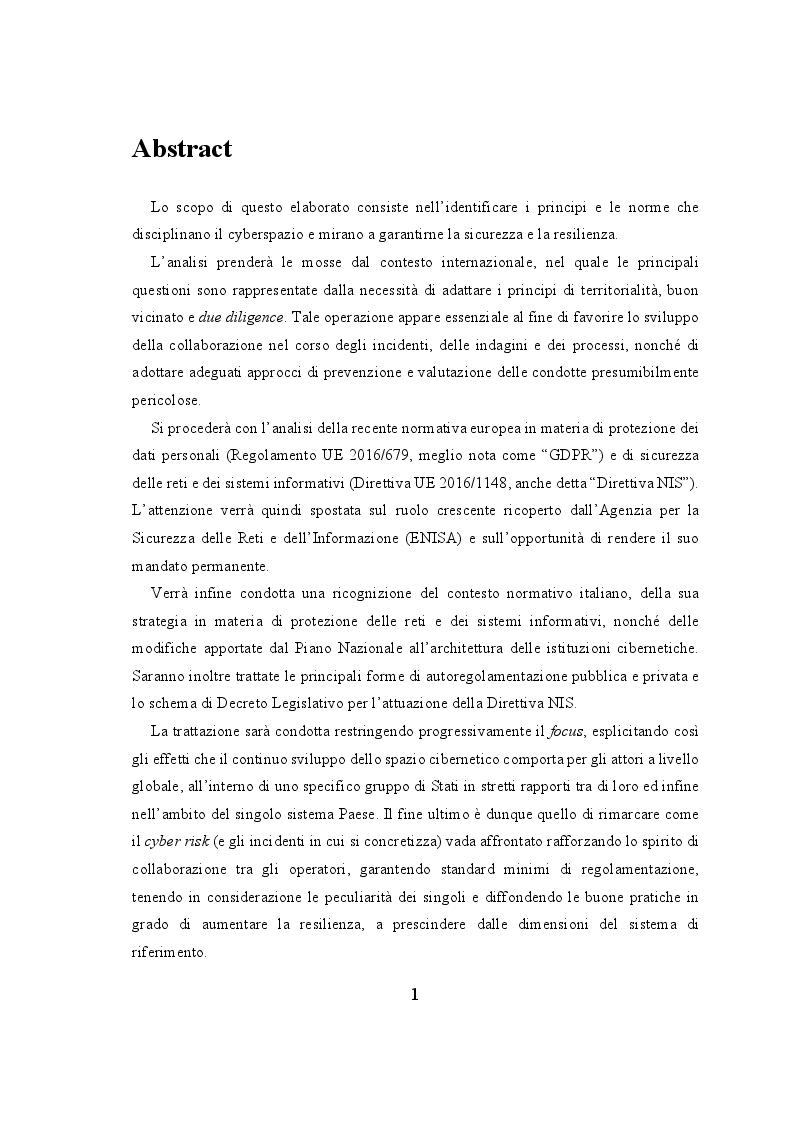 Anteprima della tesi: Profili Normativi del Cyberspazio a Livello Internazionale, Europeo ed Italiano, Pagina 2