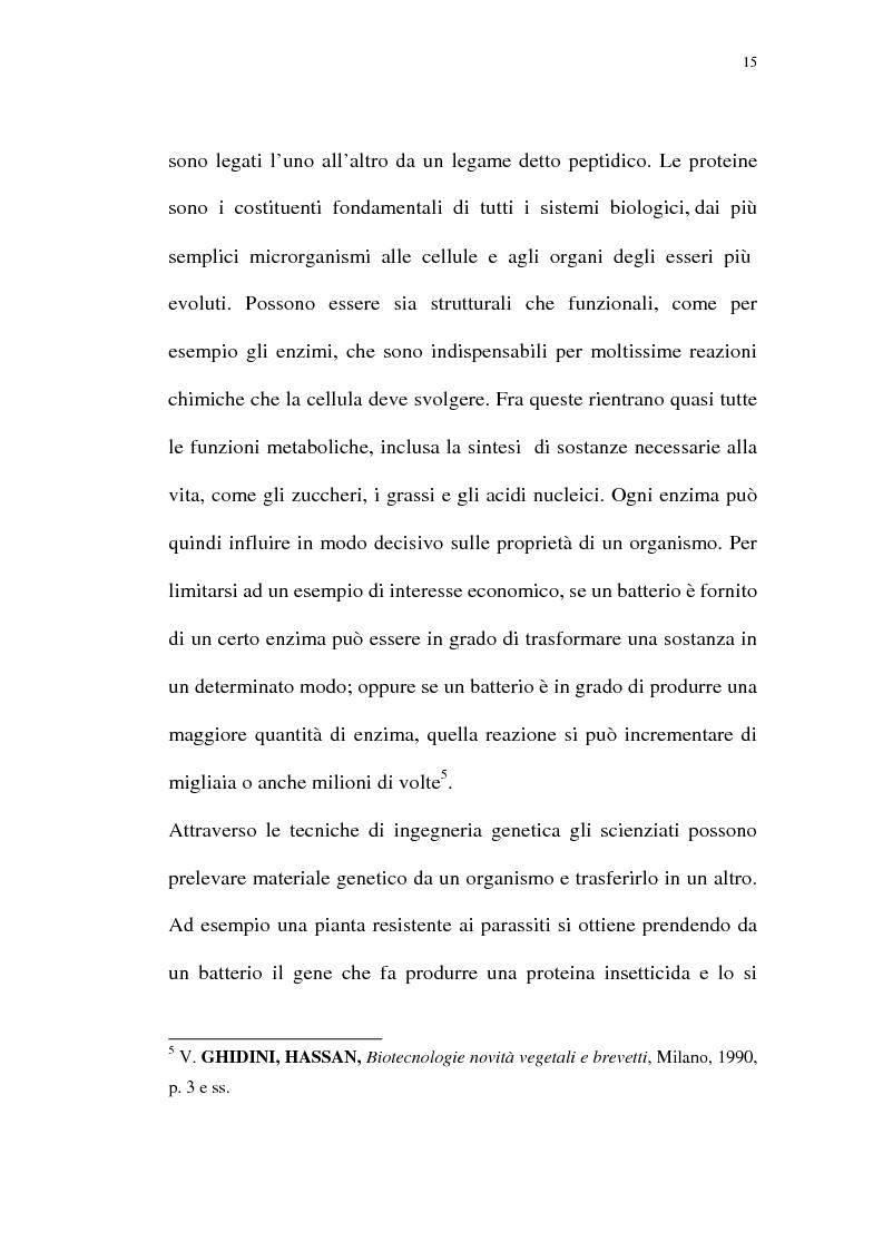 Anteprima della tesi: La protezione giuridica delle invenzioni biotecnologiche: la direttiva 98/44/CE, Pagina 11