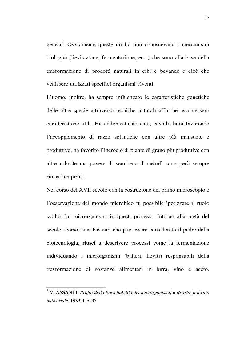 Anteprima della tesi: La protezione giuridica delle invenzioni biotecnologiche: la direttiva 98/44/CE, Pagina 13