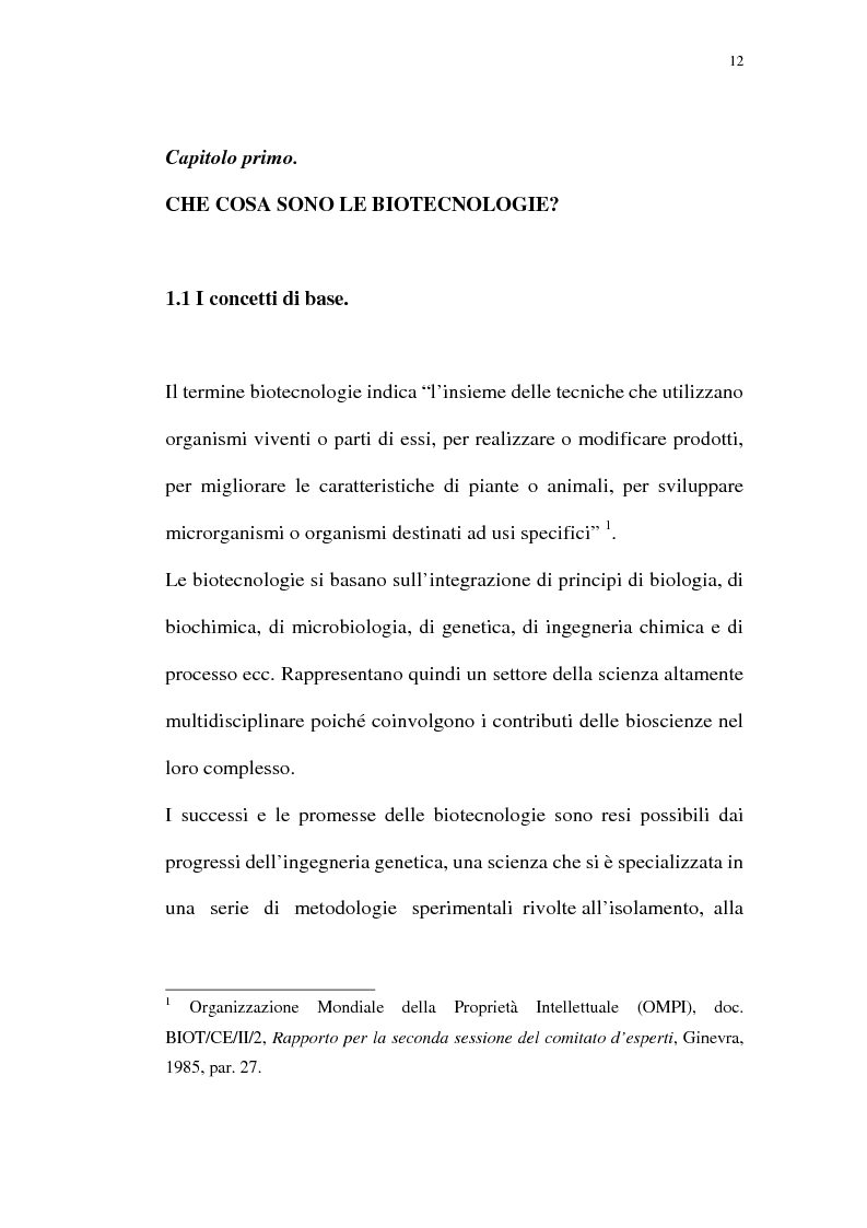 Anteprima della tesi: La protezione giuridica delle invenzioni biotecnologiche: la direttiva 98/44/CE, Pagina 8