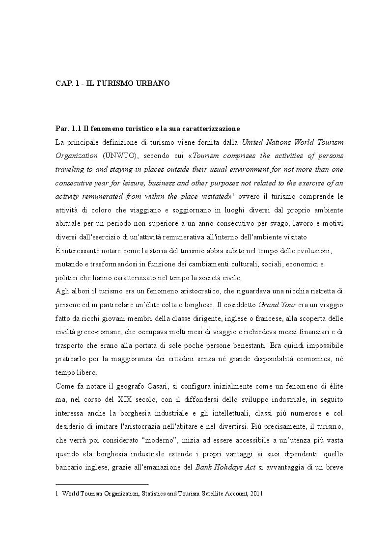 Anteprima della tesi: Lo sviluppo dei Bed and Breakfast e gli effetti sul turismo urbano. Il caso di Lecce, Pagina 5