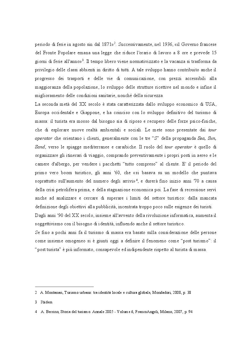 Anteprima della tesi: Lo sviluppo dei Bed and Breakfast e gli effetti sul turismo urbano. Il caso di Lecce, Pagina 6