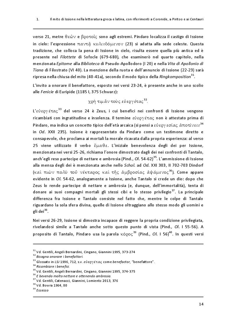 """Estratto dalla tesi: Un paradigma mitico: Issione nel """"Filottete"""" di Sofocle"""
