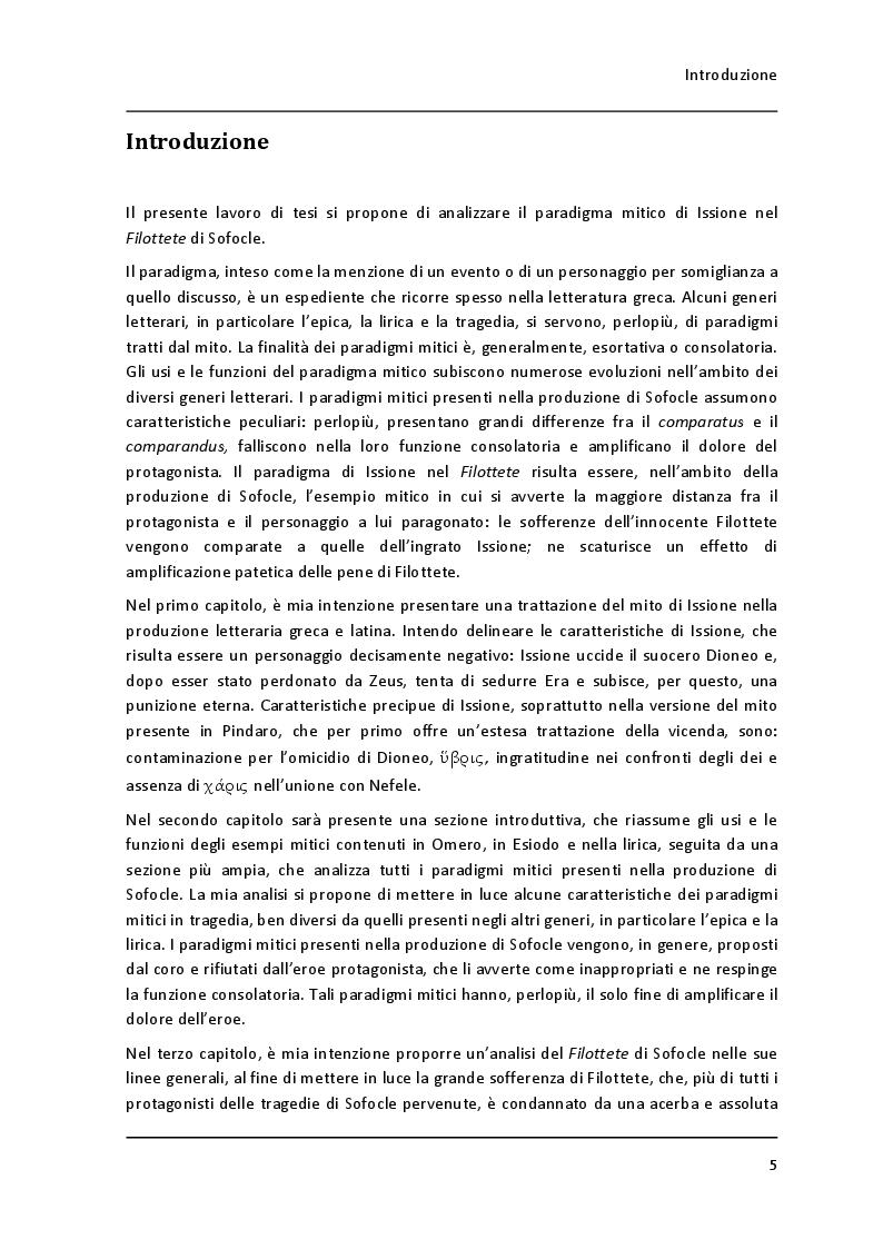 """Anteprima della tesi: Un paradigma mitico: Issione nel """"Filottete"""" di Sofocle, Pagina 2"""