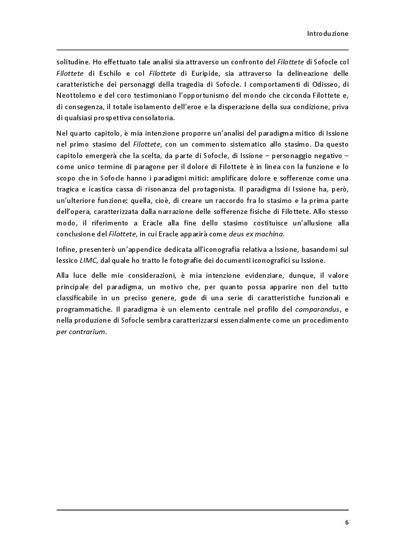"""Anteprima della tesi: Un paradigma mitico: Issione nel """"Filottete"""" di Sofocle, Pagina 3"""