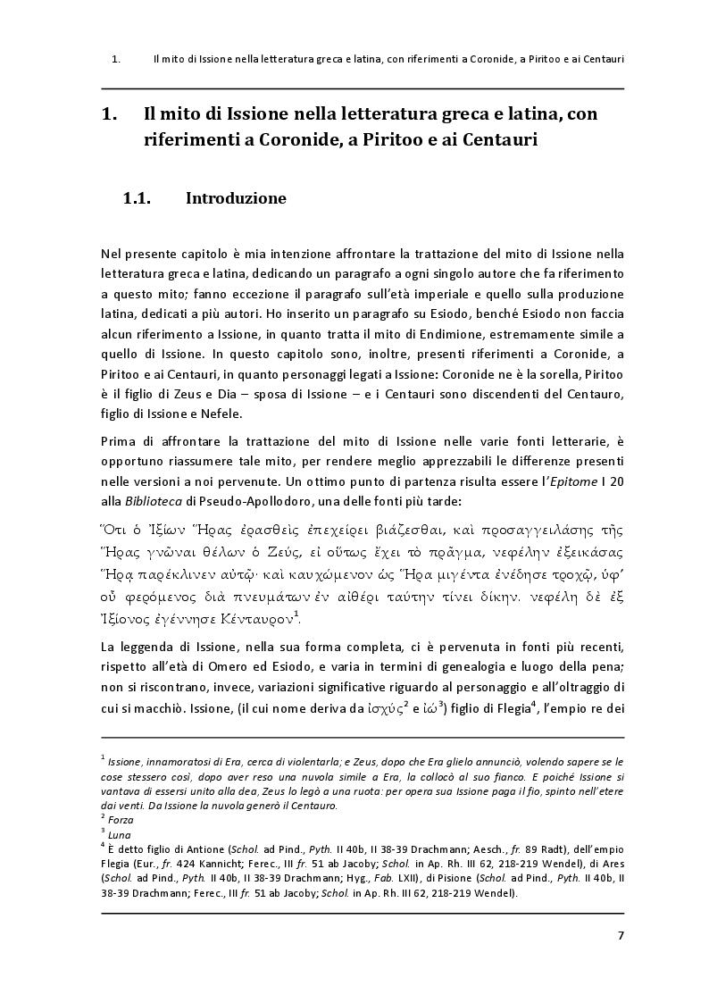 """Anteprima della tesi: Un paradigma mitico: Issione nel """"Filottete"""" di Sofocle, Pagina 4"""