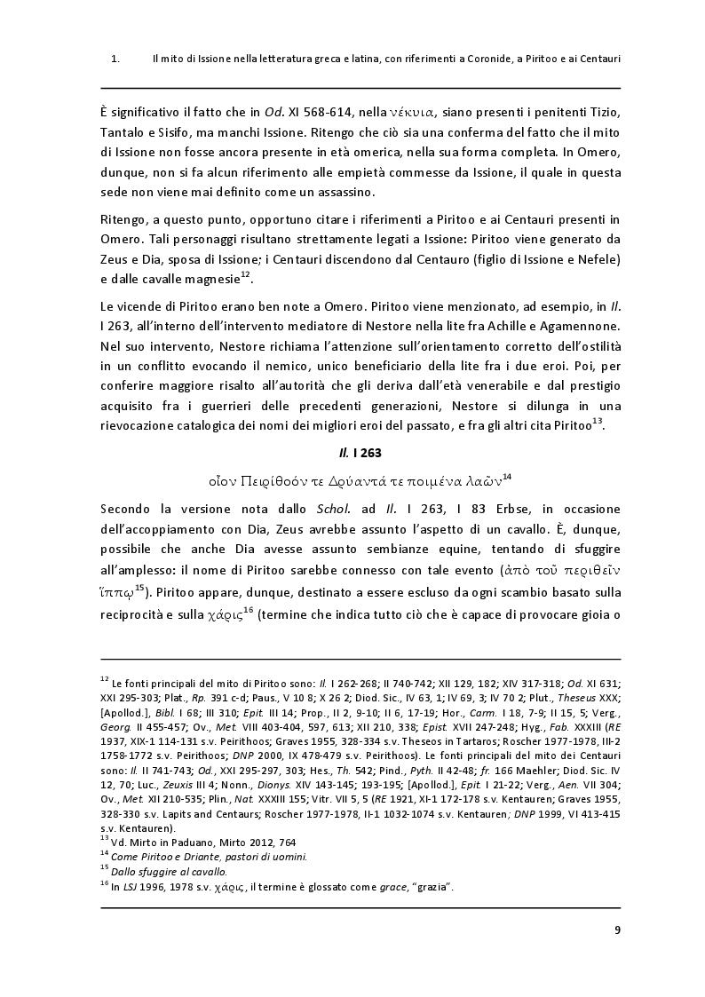 """Anteprima della tesi: Un paradigma mitico: Issione nel """"Filottete"""" di Sofocle, Pagina 6"""