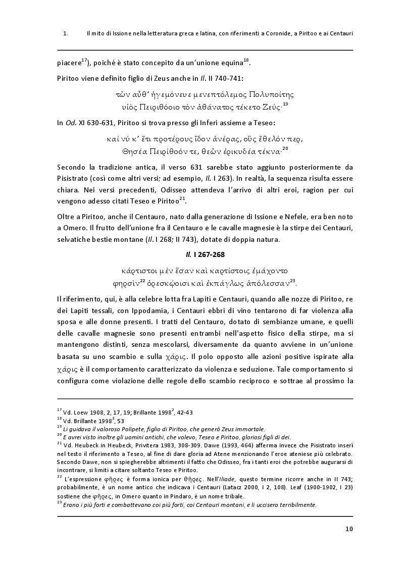 """Anteprima della tesi: Un paradigma mitico: Issione nel """"Filottete"""" di Sofocle, Pagina 7"""