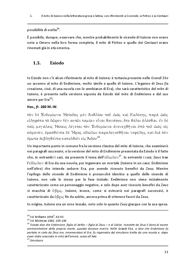 """Anteprima della tesi: Un paradigma mitico: Issione nel """"Filottete"""" di Sofocle, Pagina 8"""