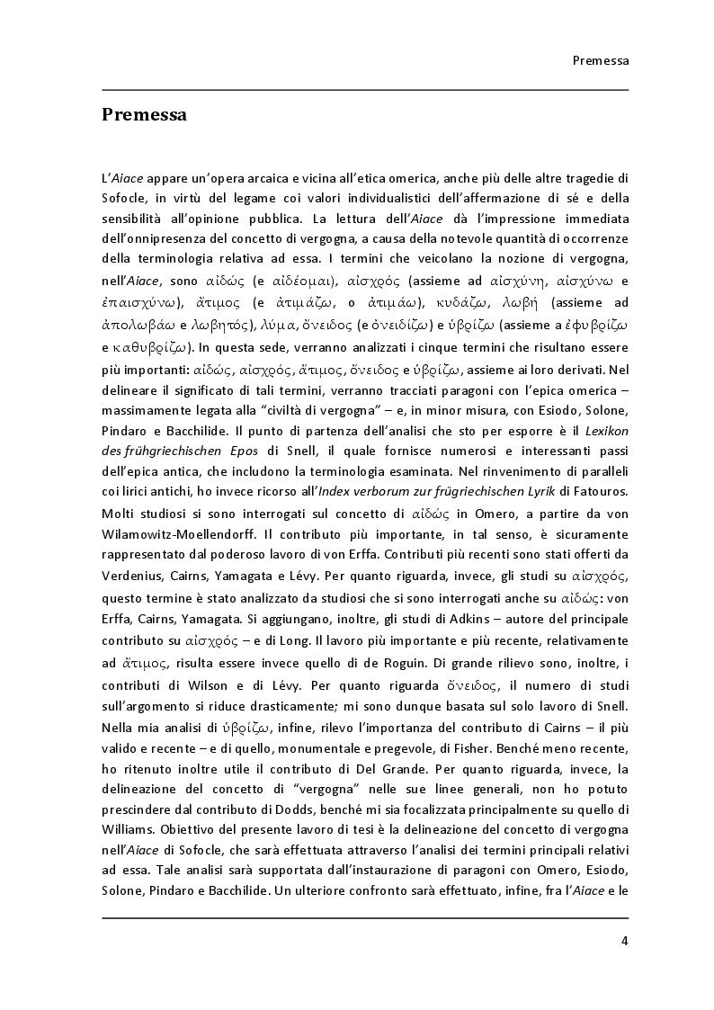 """Anteprima della tesi: Lessico della vergogna nell' """"Aiace"""" di Sofocle, Pagina 2"""