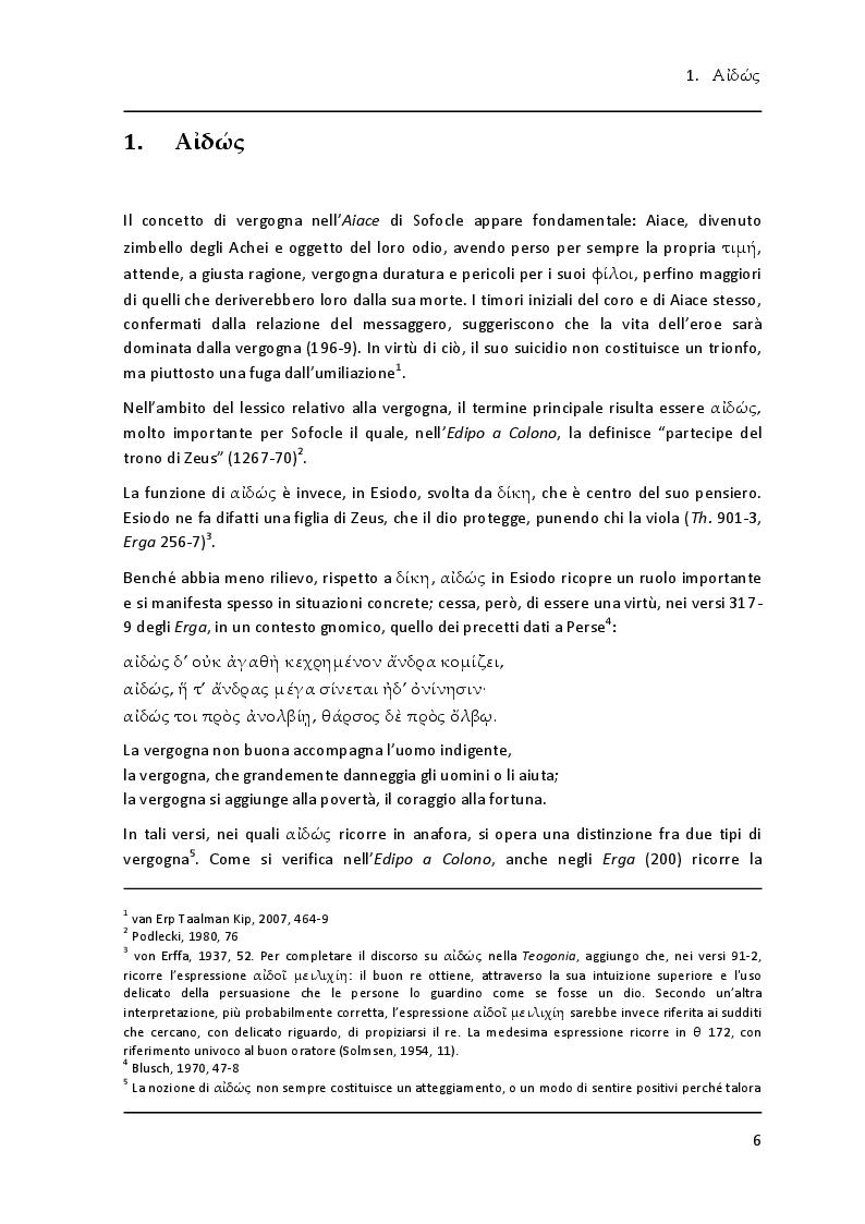 """Anteprima della tesi: Lessico della vergogna nell' """"Aiace"""" di Sofocle, Pagina 4"""