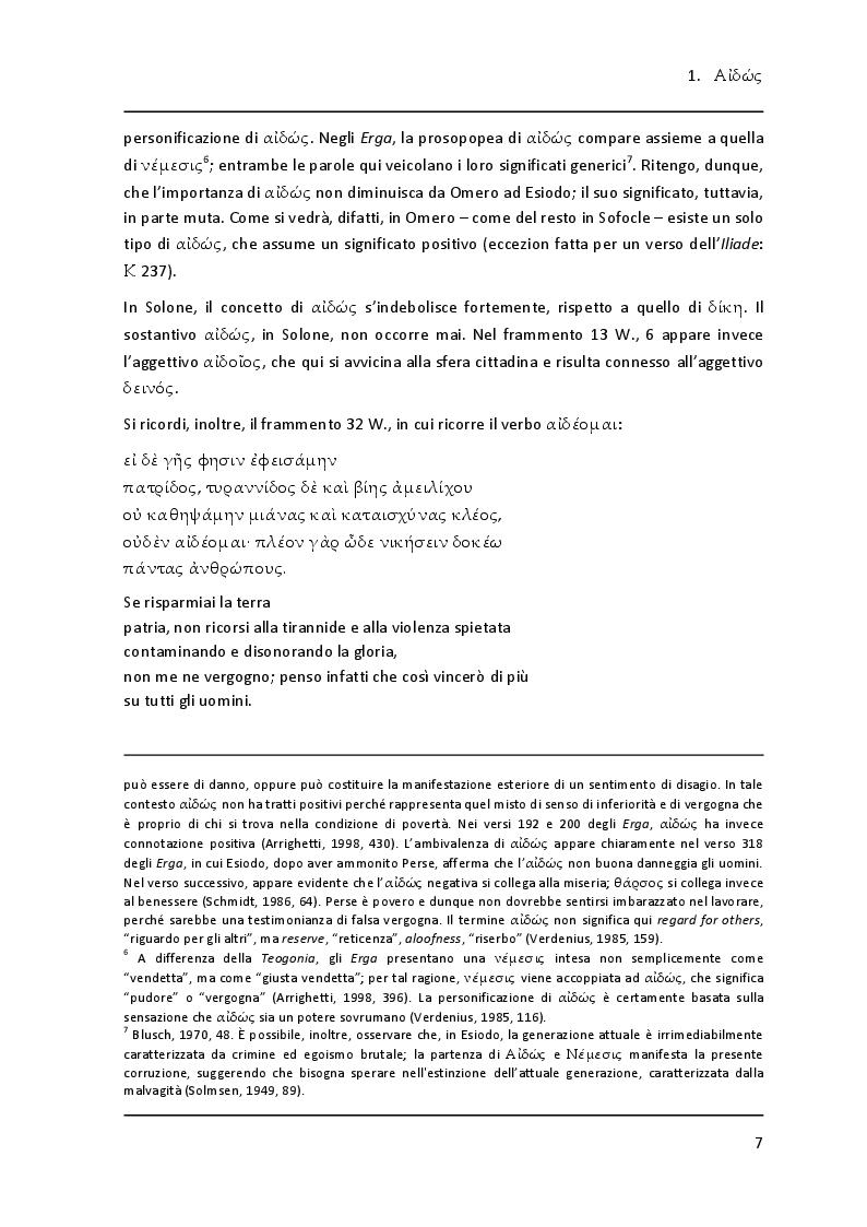 """Anteprima della tesi: Lessico della vergogna nell' """"Aiace"""" di Sofocle, Pagina 5"""