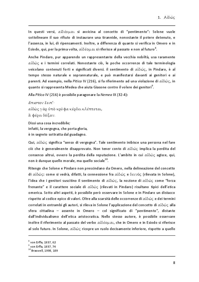"""Anteprima della tesi: Lessico della vergogna nell' """"Aiace"""" di Sofocle, Pagina 6"""