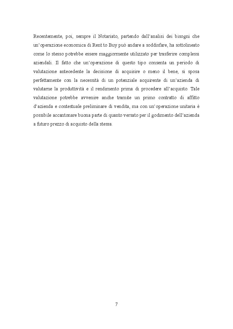 Anteprima della tesi: Profili civilistici e fiscali del Rent to Buy, Pagina 6