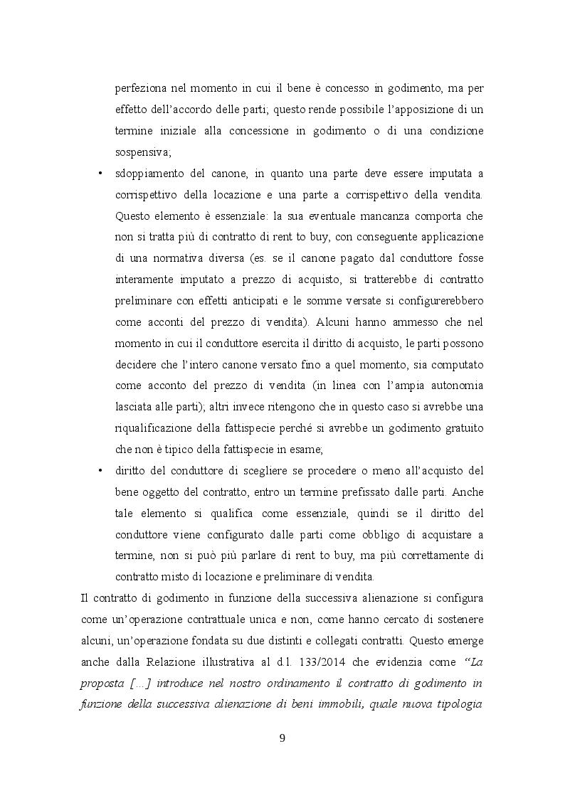 Anteprima della tesi: Profili civilistici e fiscali del Rent to Buy, Pagina 8