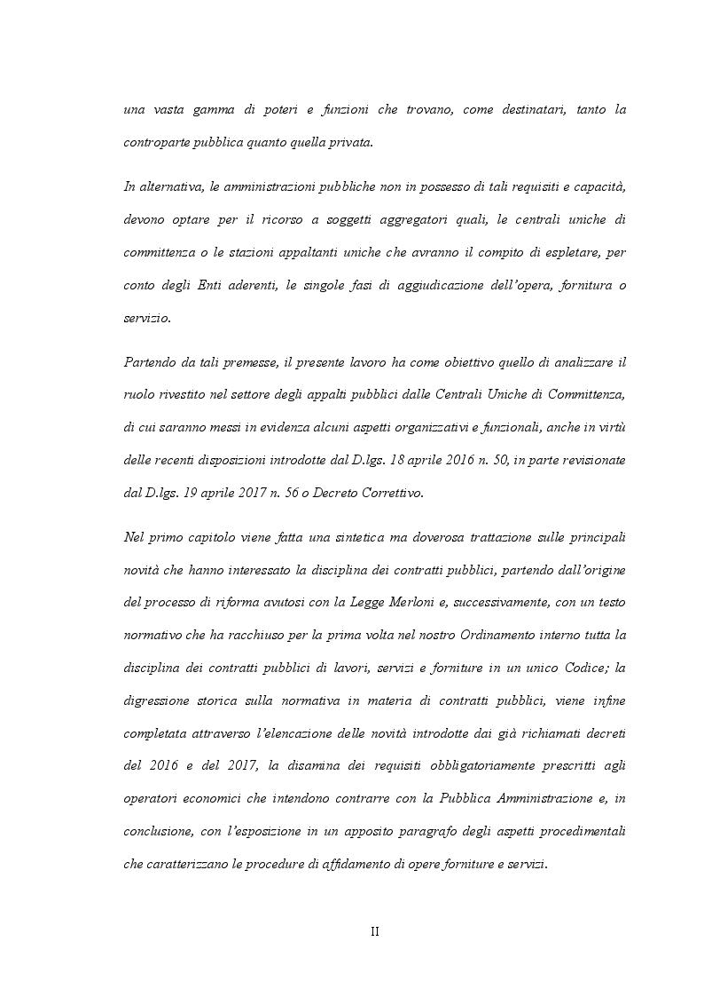 Anteprima della tesi: Il ruolo delle Centrali Uniche di Committenza nel Settore degli Appalti Pubblici, Pagina 3