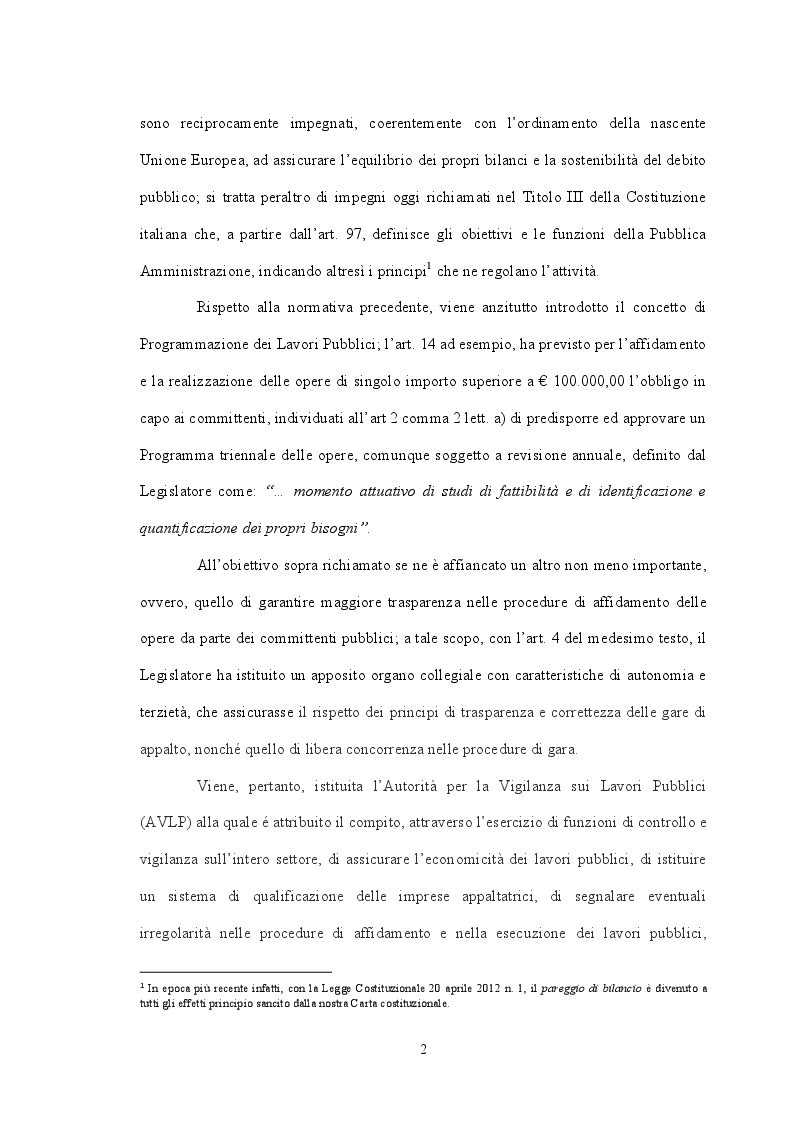 Anteprima della tesi: Il ruolo delle Centrali Uniche di Committenza nel Settore degli Appalti Pubblici, Pagina 6