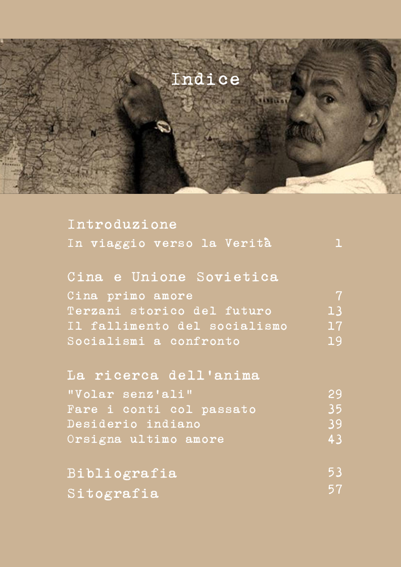 Indice della tesi: Tiziano Terzani. Viaggio introspettivo alla ricerca della Verità., Pagina 1