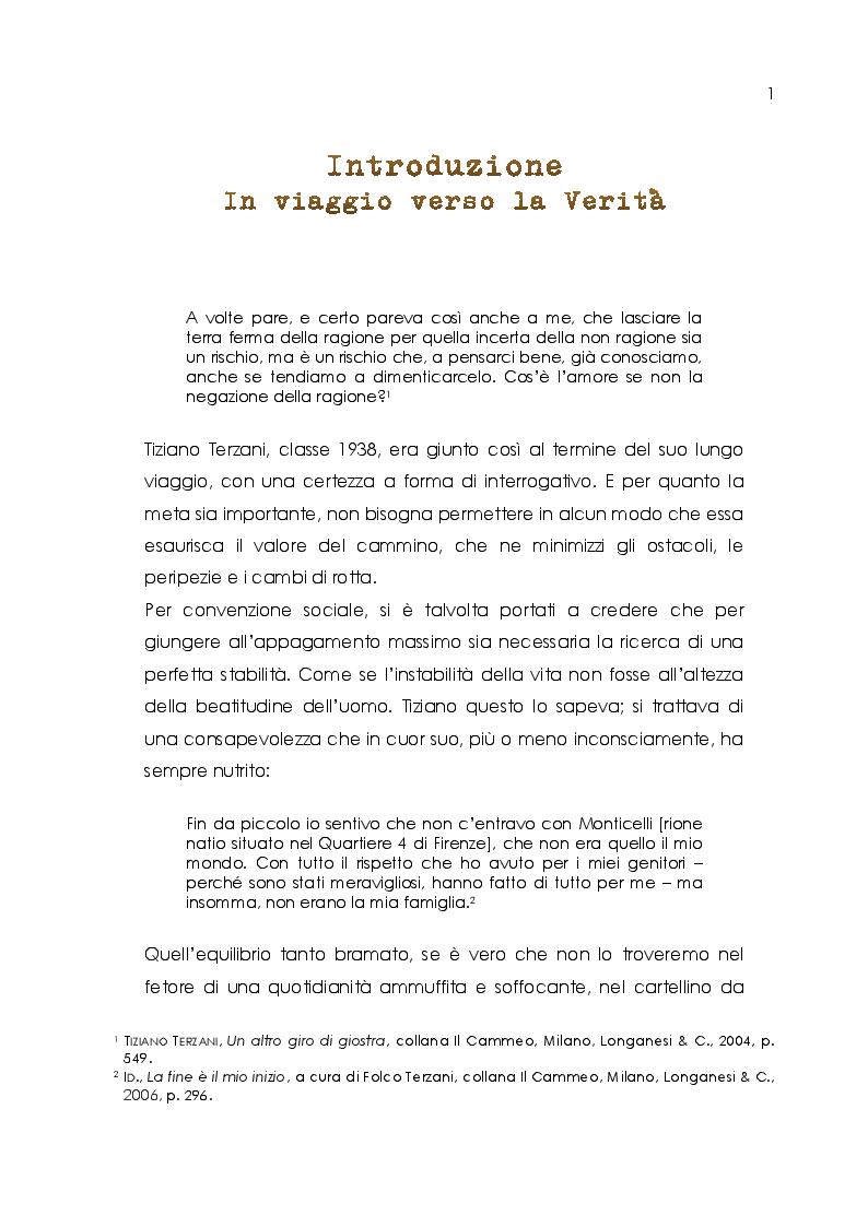 Anteprima della tesi: Tiziano Terzani. Viaggio introspettivo alla ricerca della Verità., Pagina 3