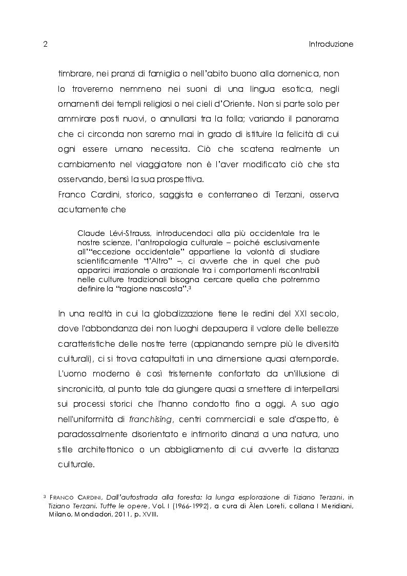Anteprima della tesi: Tiziano Terzani. Viaggio introspettivo alla ricerca della Verità., Pagina 4