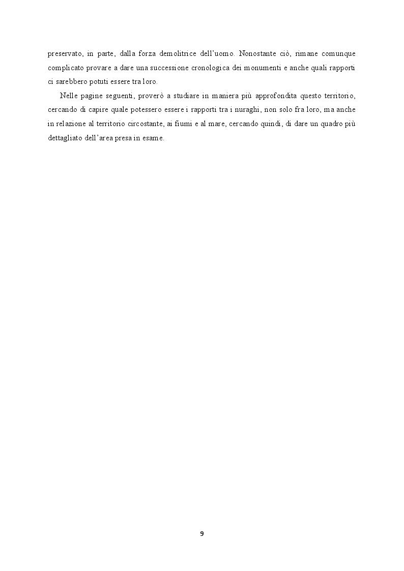 Anteprima della tesi: Il territorio costiero della Sardegna nord-orientale nell'Età del Bronzo. I comuni di San Teodoro, Budoni, Posada e Torpè., Pagina 4