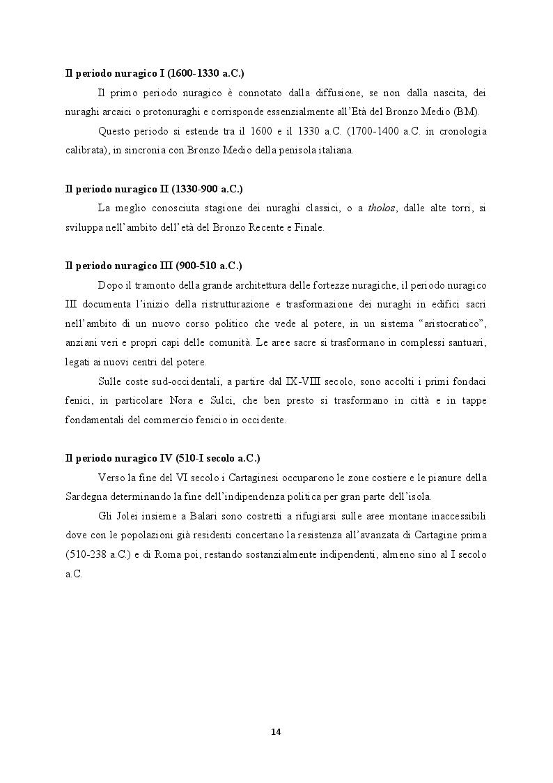 Anteprima della tesi: Il territorio costiero della Sardegna nord-orientale nell'Età del Bronzo. I comuni di San Teodoro, Budoni, Posada e Torpè., Pagina 8
