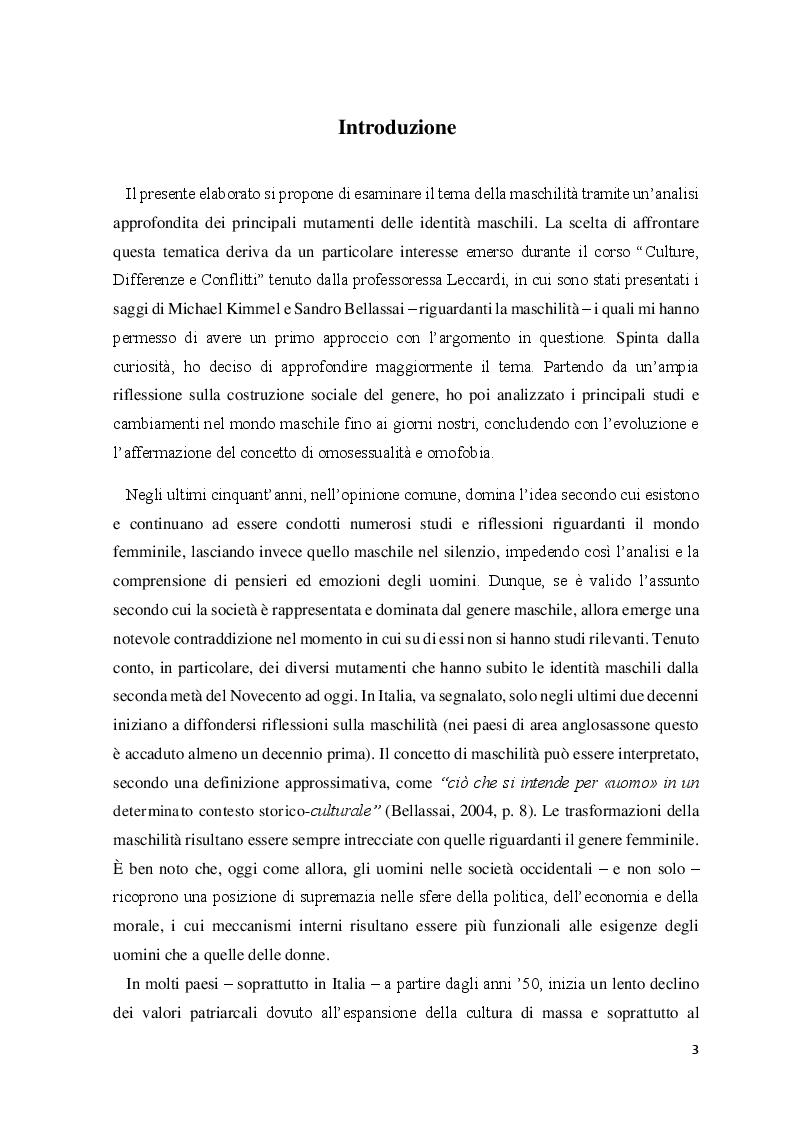 Anteprima della tesi: Le identità maschili: i processi di mutamento, Pagina 2