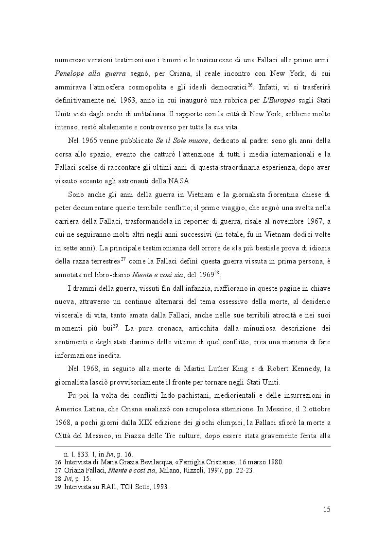 Estratto dalla tesi: Oriana Fallaci e Tiziano Terzani: dissonanze e intrecci di due vite tra giornalismo e letteratura