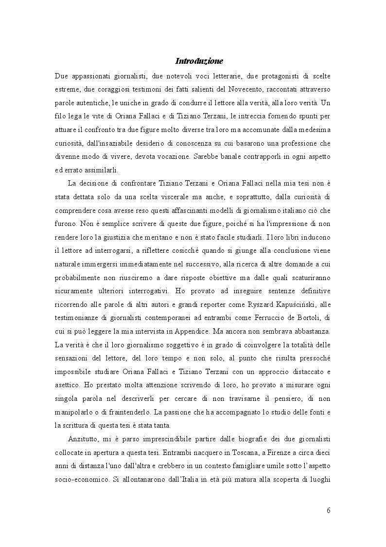 Anteprima della tesi: Oriana Fallaci e Tiziano Terzani: dissonanze e intrecci di due vite tra giornalismo e letteratura , Pagina 2