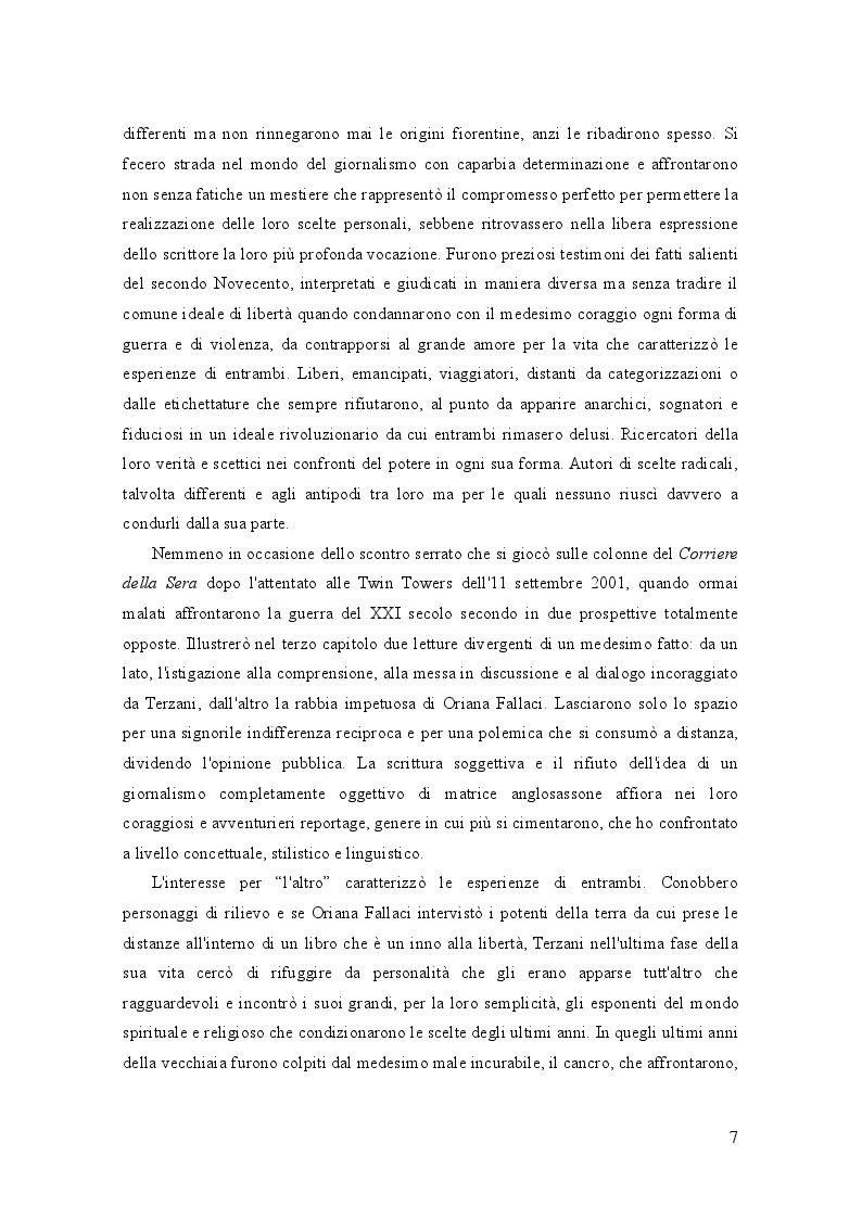 Anteprima della tesi: Oriana Fallaci e Tiziano Terzani: dissonanze e intrecci di due vite tra giornalismo e letteratura , Pagina 3