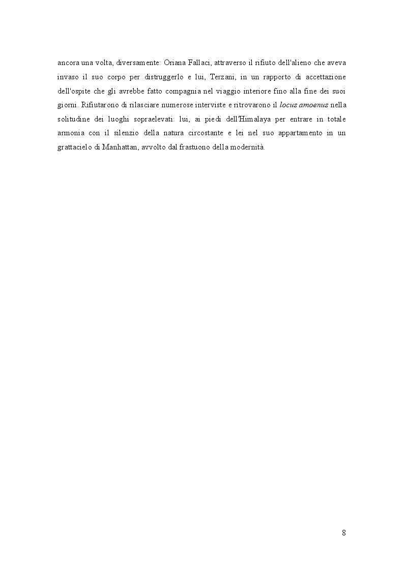 Anteprima della tesi: Oriana Fallaci e Tiziano Terzani: dissonanze e intrecci di due vite tra giornalismo e letteratura , Pagina 4