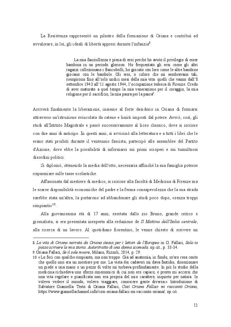Anteprima della tesi: Oriana Fallaci e Tiziano Terzani: dissonanze e intrecci di due vite tra giornalismo e letteratura , Pagina 7