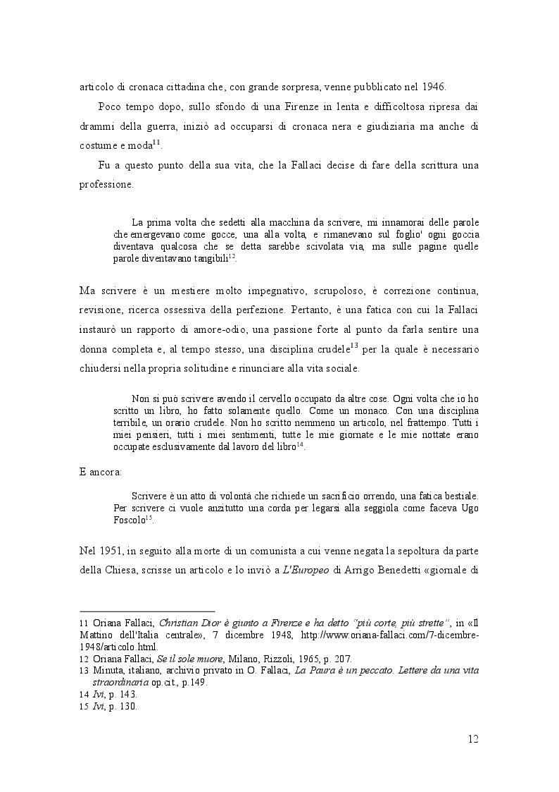 Anteprima della tesi: Oriana Fallaci e Tiziano Terzani: dissonanze e intrecci di due vite tra giornalismo e letteratura , Pagina 8